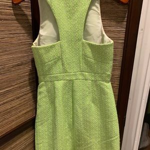 J. Crew Neon yellow shift dress